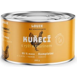 Louie konzerva pro kočky kuřecí s rýží a taurinem