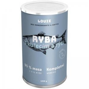 Louie konzerva pro psy ryba s kuřecím a rýží