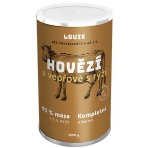 Louie konzerva pro psy hovězí a vepřové s rýží