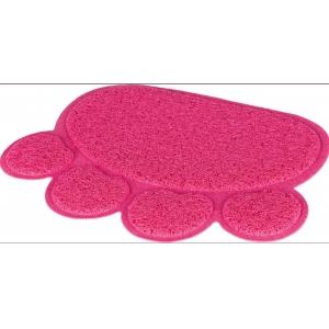 Předložka ke kočičímu WC - tlapka růžová