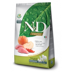 N&D PRIME Dog Adult M/L Boar & Apple (divočák a jablíčko)