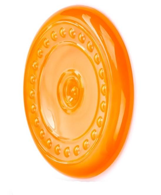 Létající talíř z termoplastické gumy - oranžový