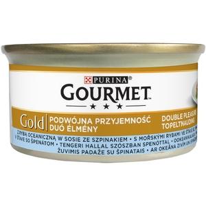 Gourmet Gold 85 g kousky v omáčce - mořské ryby se špenátovou omáčkou