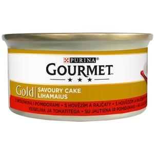 Gourmet Gold 85 g Savoury Cake - hovězí a rajčata