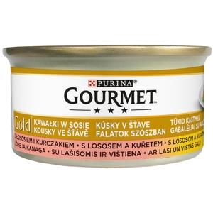 Gourmet Gold 85 g kousky v omáčce - losos a kuře