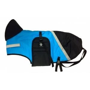 Zimní zateplená vesta s límcem Zero - tyrkysovo-černá