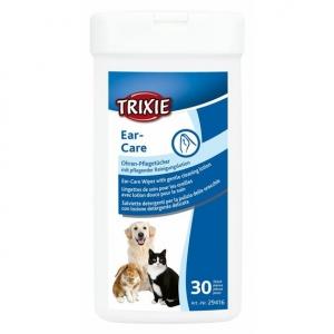 Ušní péče - čistící ubrousky, Trixie
