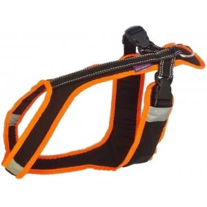 Postroj Zero Short - černo-neon oranžový
