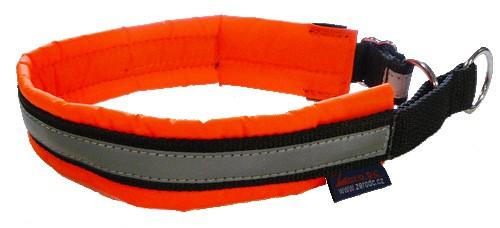 Obojek Blizard - neon oranžový, polostahovací