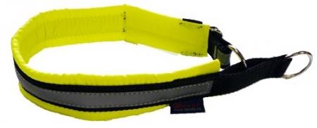 Obojek Blizard - neon žlutozelený, polostahovací