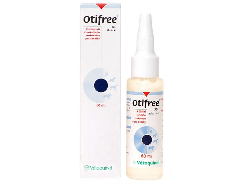 Vetoquinol Otifree - přípravek na čištění uší