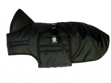 Zimní zateplená vesta s límcem - černá