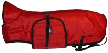 Zimní zateplená vesta s límcem - červená