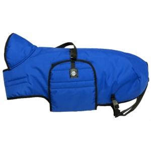 Zimní zateplená vesta s límcem Zero, modrá
