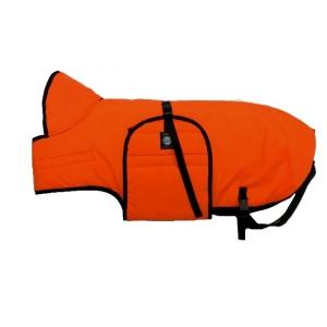 Zimní zateplená vesta s límcem Zero, neonově oranžová