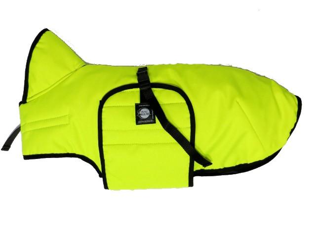 Zimní zateplená vesta s límcem Zero, neonově zelená/žlutá