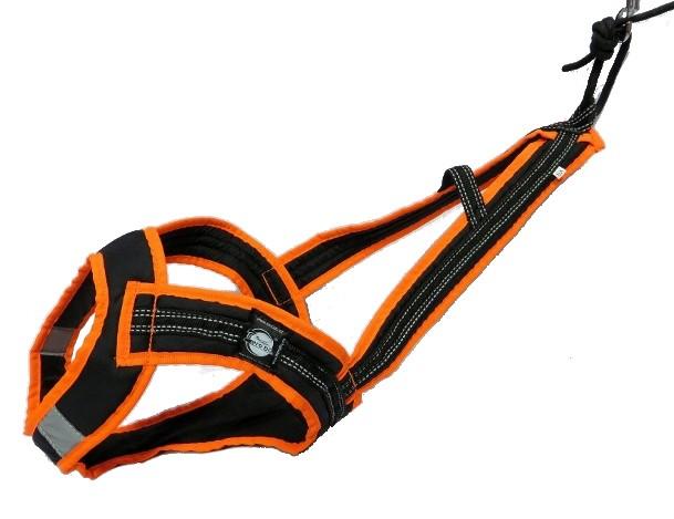 Postroj Zero Faster - černo-neon oranžový