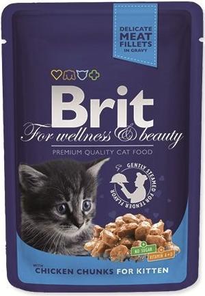 Brit Premium Kitten 100 g kapsička - s kuřecími kousky v omáčce