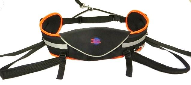 Sedák Grizzly Zero, s kapsou, černý s neon-oranžovým lemováním