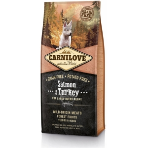 Carnilove Salmon & Turkey for Large Breed Puppy (losos, krocan)