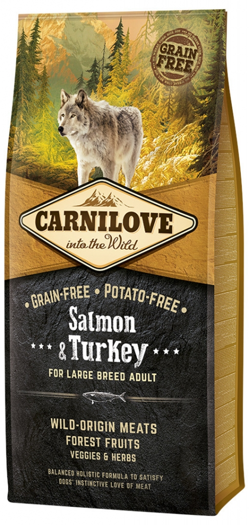 Carnilove Salmon & Turkey for Large Breed Adult (losos, krocan)