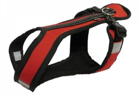Postroj Zero Short - červeno/černý