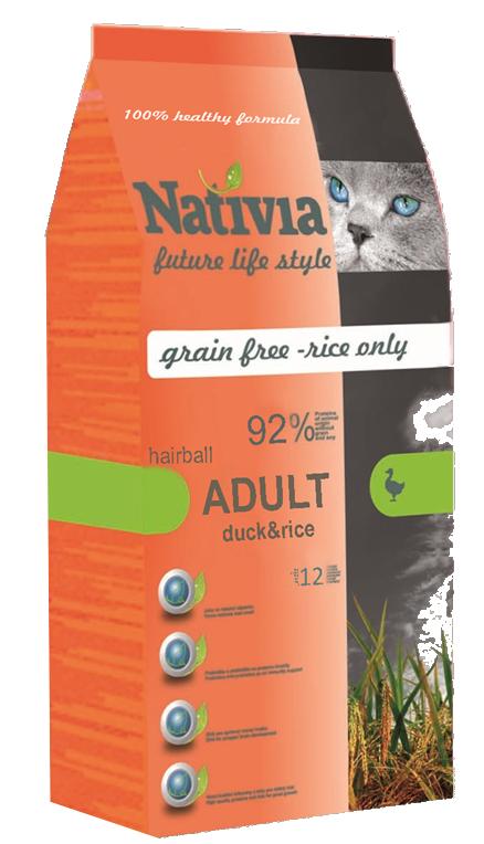 Nativia Adult Duck&Rice hairball