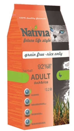 Nativia Adult Duck&Rice hairball