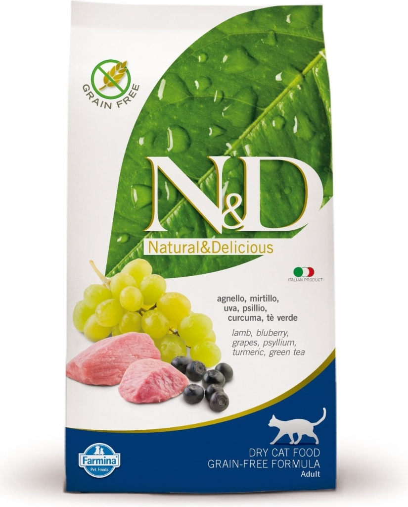 N&D Grain Free Cat Lamb & Blueberry (jehně a borůvky)