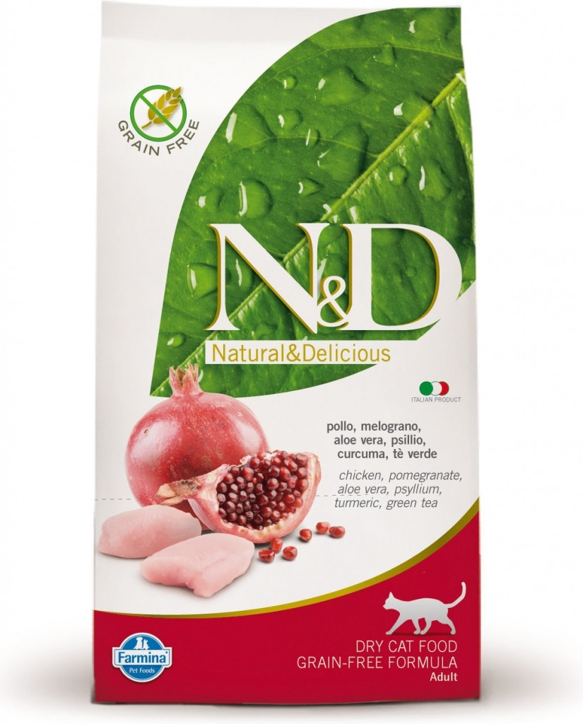 N&D Grain Free Cat Chicken & Pomegranate (kuře a granátové jablko)