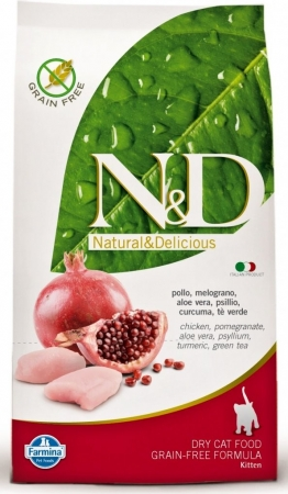 N&D Grain Free Kitten Chicken & Pomegranate (kuře a granátové jablko)