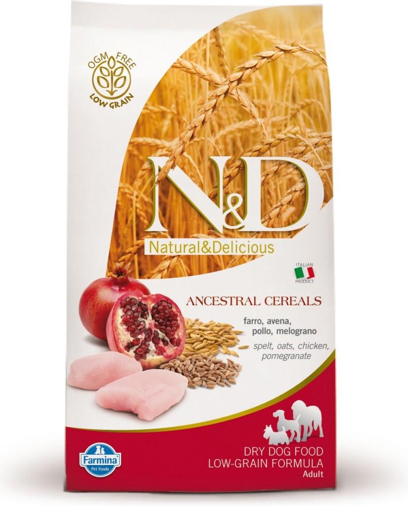N&D Low Grain Dog Adult Mini Chicken & Pomegranate (kuře a granátové jablíčko)