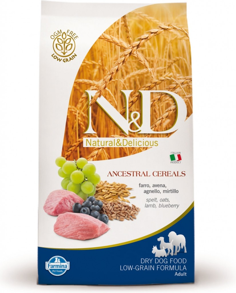N&D Low Grain Dog Adult Lamb & Blueberry (jehně a borůvky)