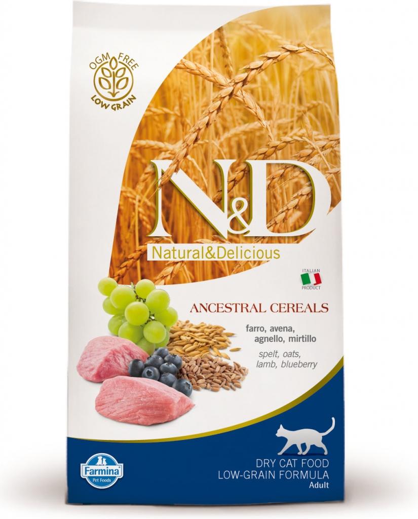 N&D Low Grain Cat Lamb & Blueberry (jehněčí a borůvky)