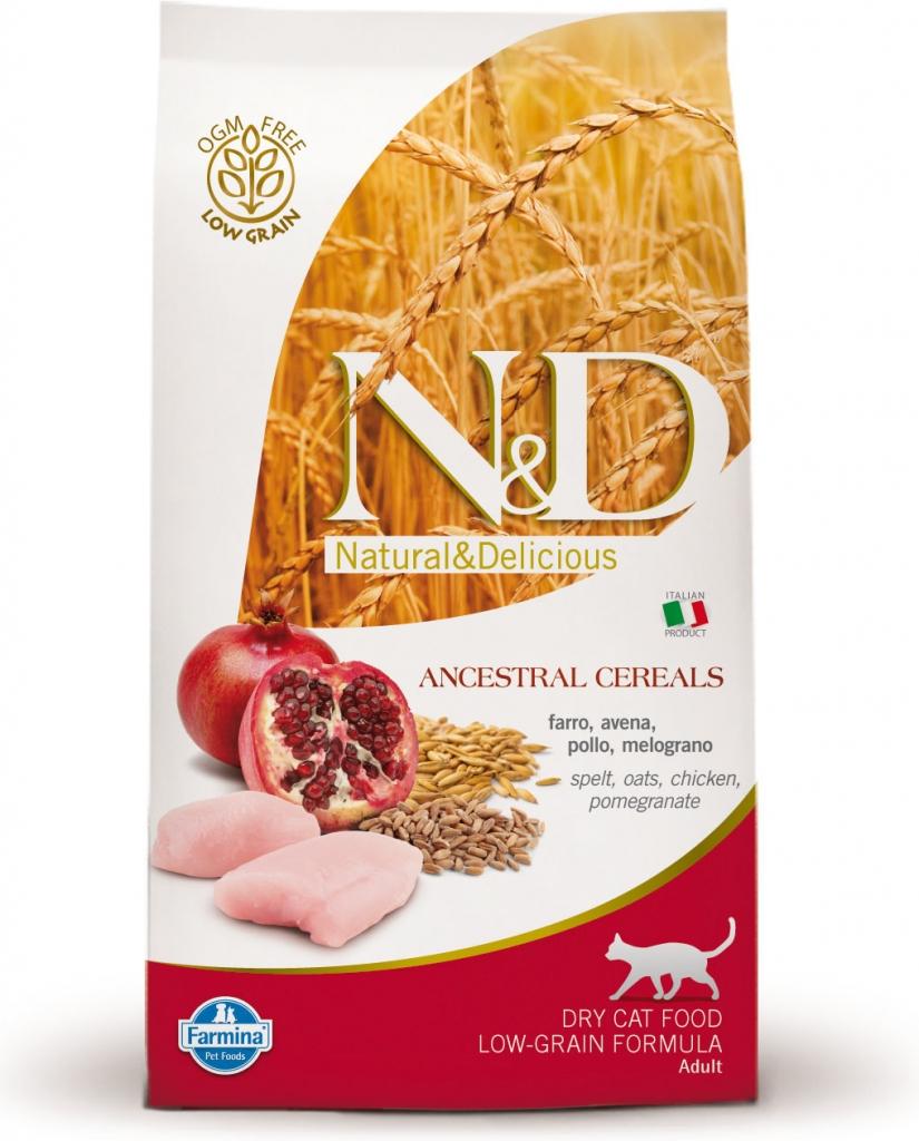 N&D Low Grain Cat Neutered Chicken & Pomegranate (kuře a granátové jablko)
