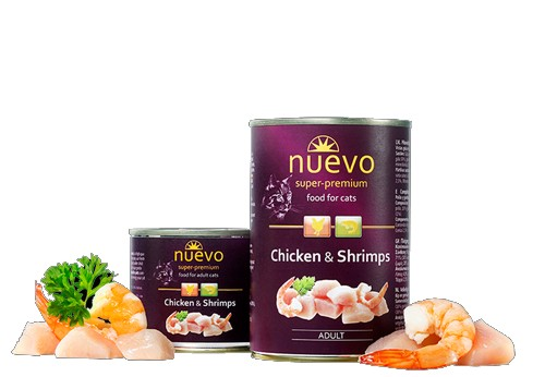 Nuevo Cat Chicken & Shrimps - 400 g - kuře a krevety