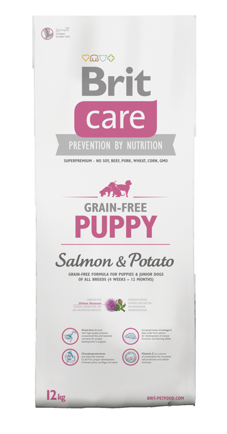 Brit Care Dog Grain Free Puppy Salmon & Potato