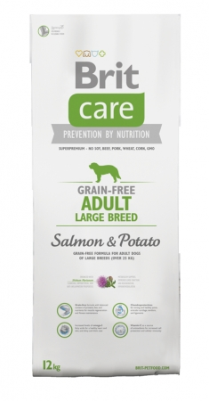 Brit Care Dog Grain Free Adult Large Breed Salmon & Potato