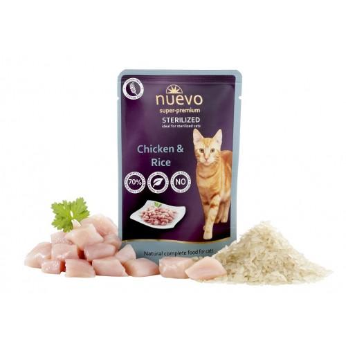 Nuevo Cat kapsička - pro kastráty 85g kuře s rýží