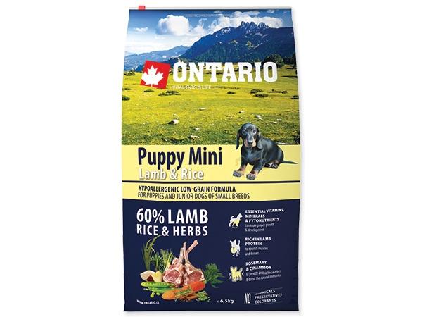 Ontario Puppy Mini Lamb&Rice