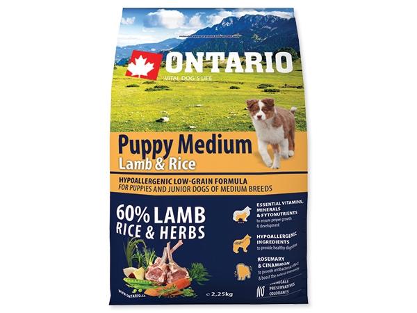 Ontario Puppy Medium Lamb&Rice