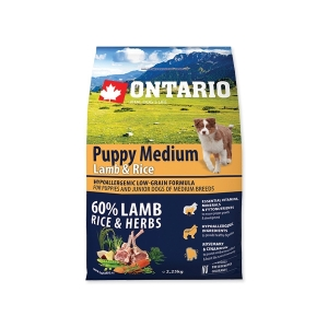 Ontario Puppy Medium Lamb&Rice