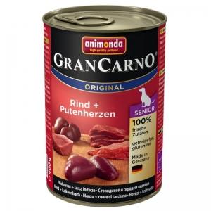 GranCarno Senior - hovězí, krůtí srdce