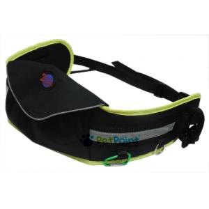Opasek Grizzly s kapsou Zero, černý s neon zeleným okrajem