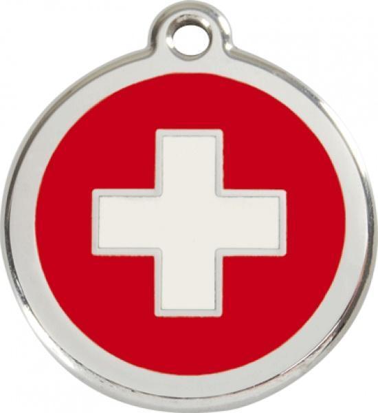 Identifikační známka - švýcarský kříž