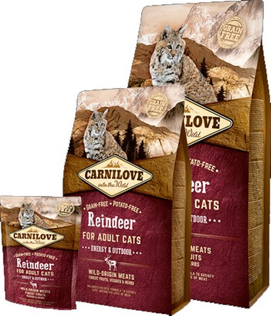Carnilove Reindeer for Adult Cats – Energy & Outdoor (sob)
