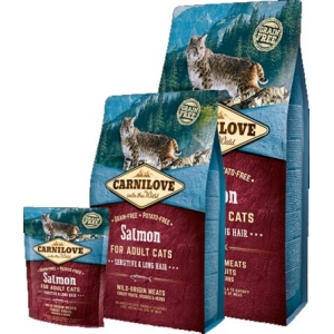 Carnilove Salmon for Adult Cats – Sensitive & Long Hair (Losos)