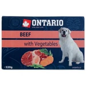 Ontario Dog vanička 320 g - Hovězí se zeleninou