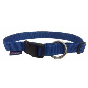 Obojek nylonový s bezpečnostním kroužkem - modrý