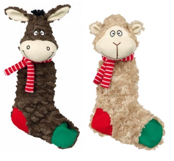 Plyšový vánoční osel / ovečka